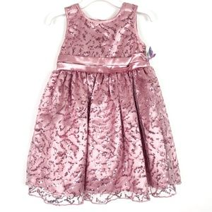 NWT Blueberi Boulevard Pink Sequin Full Dress